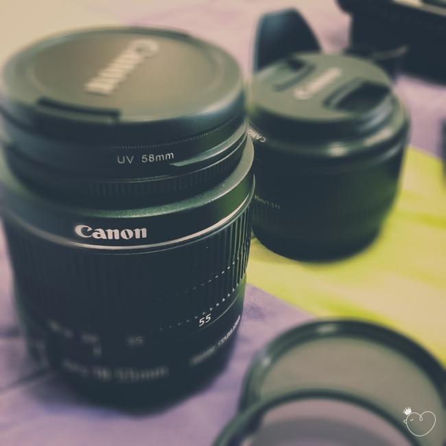 Lentes Canon 18-55 mm e 50 mm. Fotografia de celular Samsung Galaxy Win.